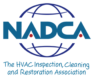The HVAC Inspection, Cleaning and Restoration Association icon representing the membership of mold testing company Bactronix in Moon, PA